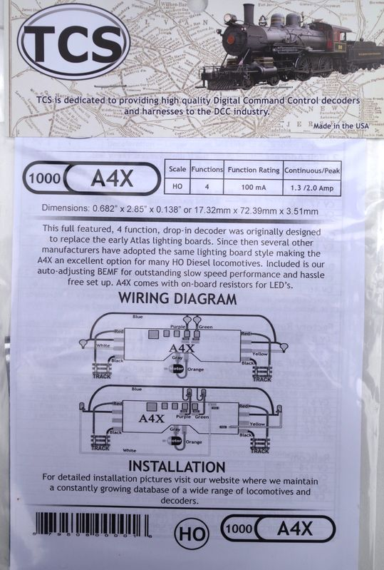 A4X 4 Function HO drop in decoder