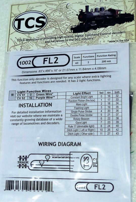 FL2 Fleet lighter 2 function only decoder