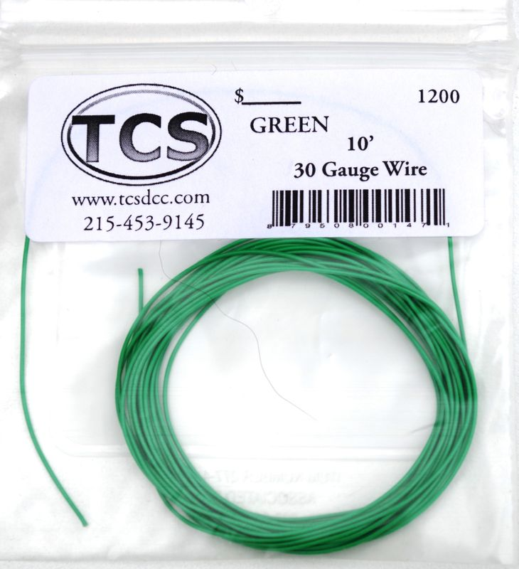 Green 30 awg colour wire 10ft 33m