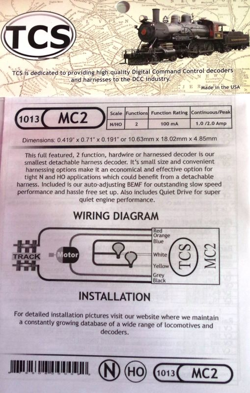 MC2 Full featured 2 function decoder