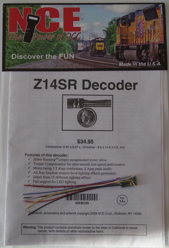 NCEZ 14SR N or Z Generic Decoder