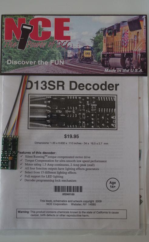 NCE D13SR Decoder