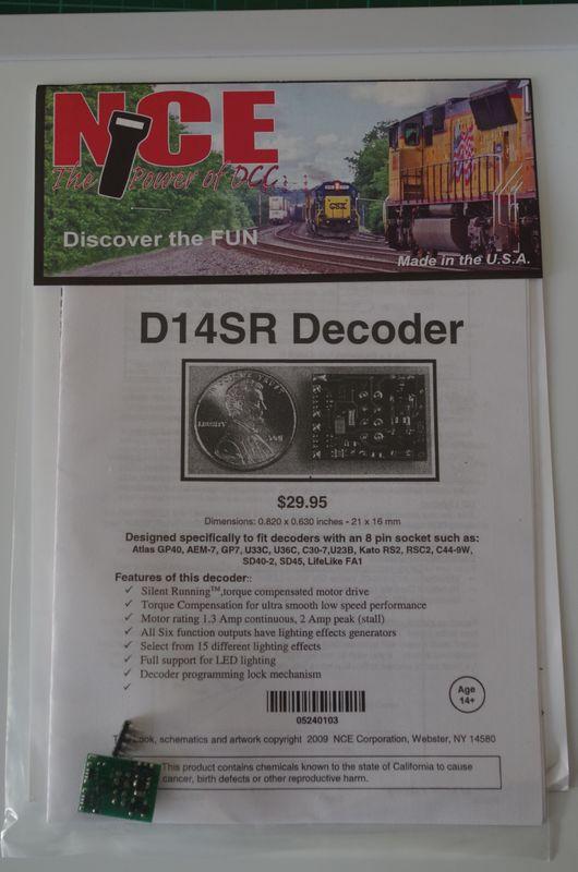 NCE D14SR HO  Decoder 6 function