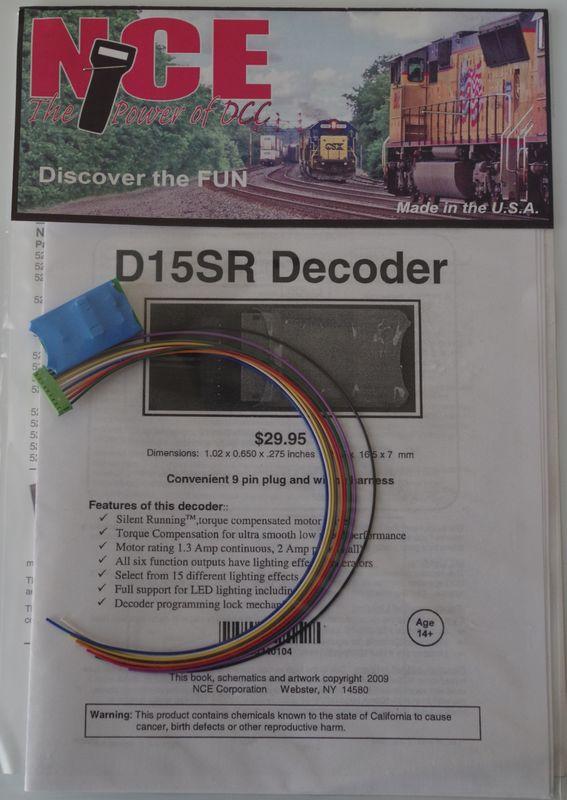 NCE D15SR HO  Decoder 6 function