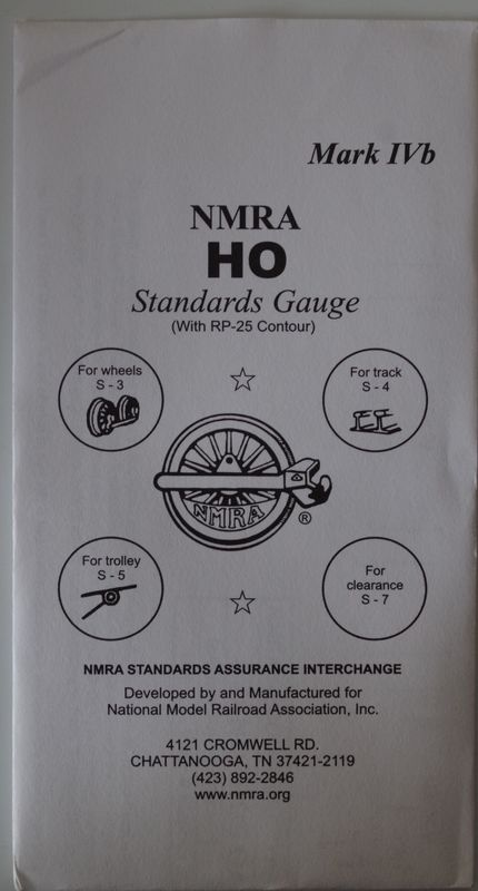 NMRA1 HO Track Gauge