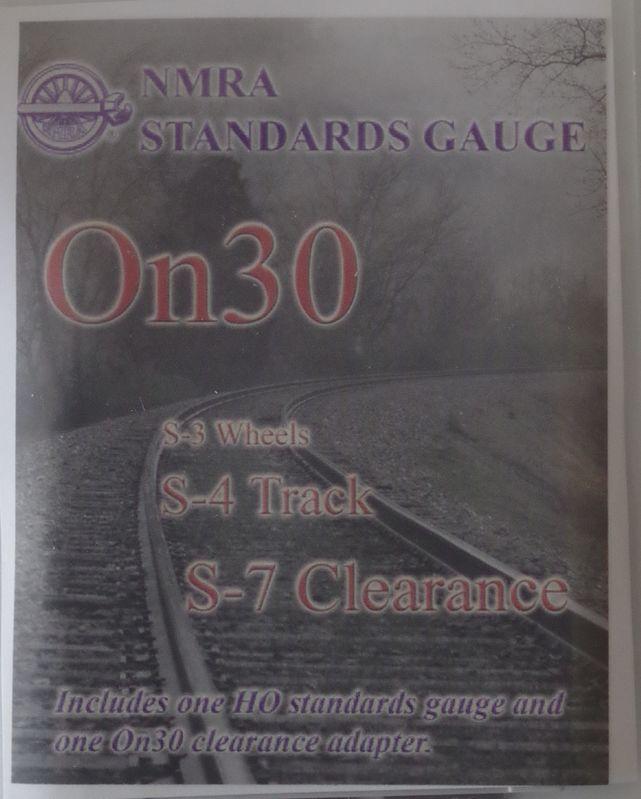 NMRAON30 Track Gauge