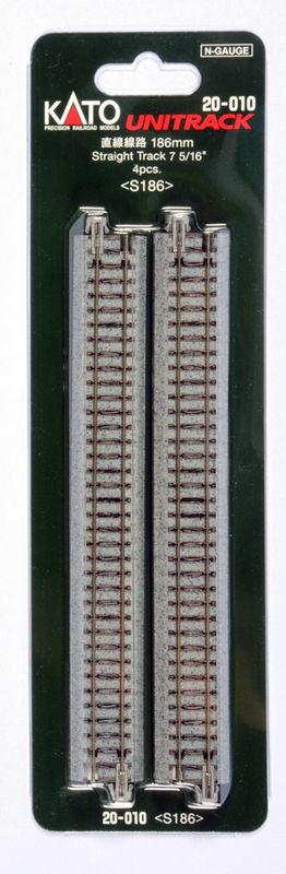 N 20010 186mm Straight Track 4 pk