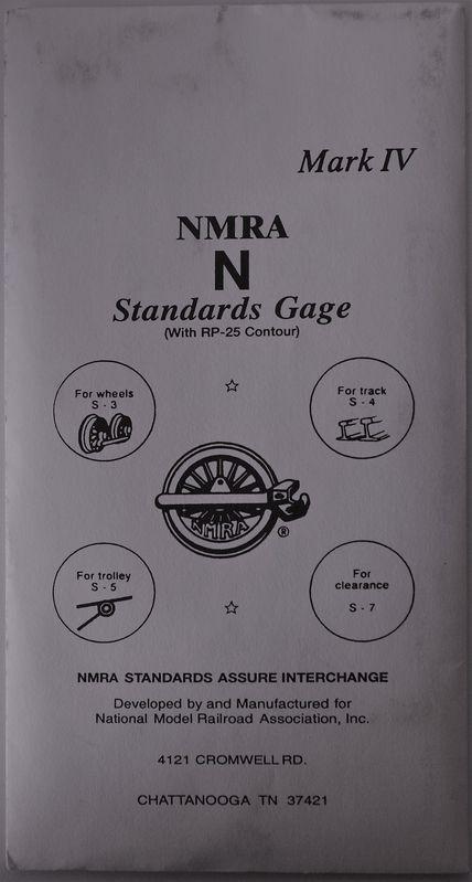 N NMRA Track Gauge