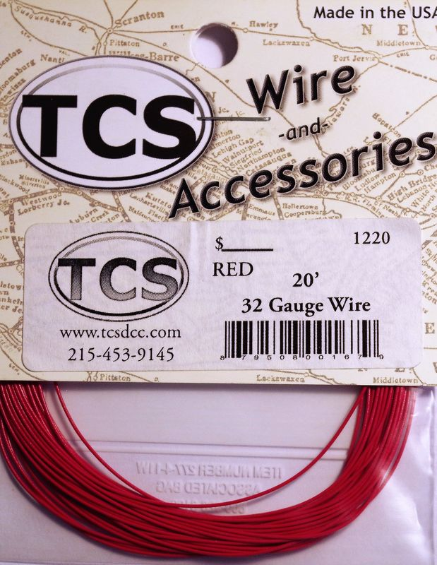 Red 32 awg colour wire 20ft 67m