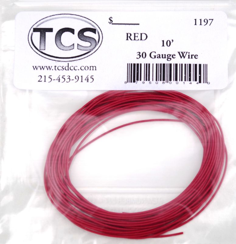 Red  30 awg colour wire 10ft 33m