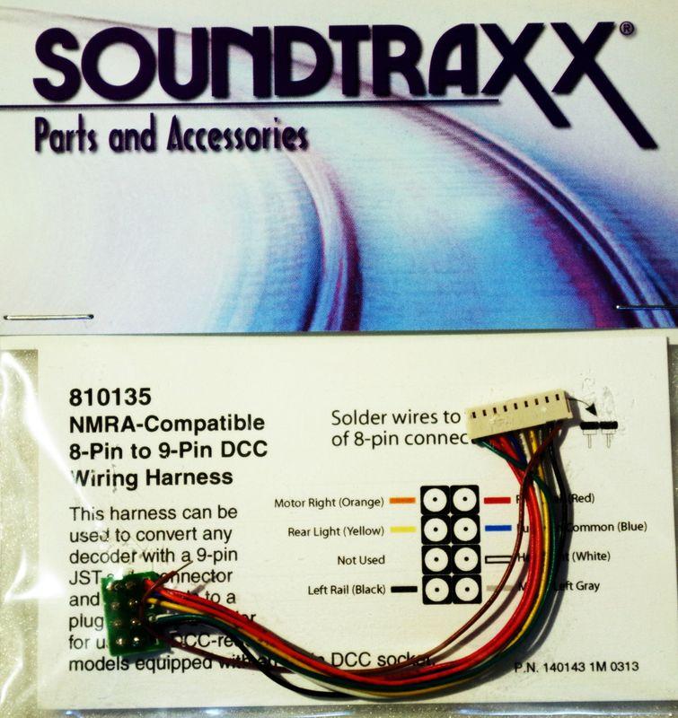 STX 810135 9 pin JST to NMRA 8 pin Wiring Harness