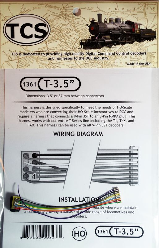 T 35 is a 35+39 harness for T series with NMRA plug