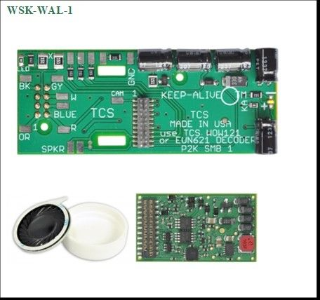 WSK WAL 1 WOWKit is a DCC sound total conversion solution for HO Scale Locomotiv
