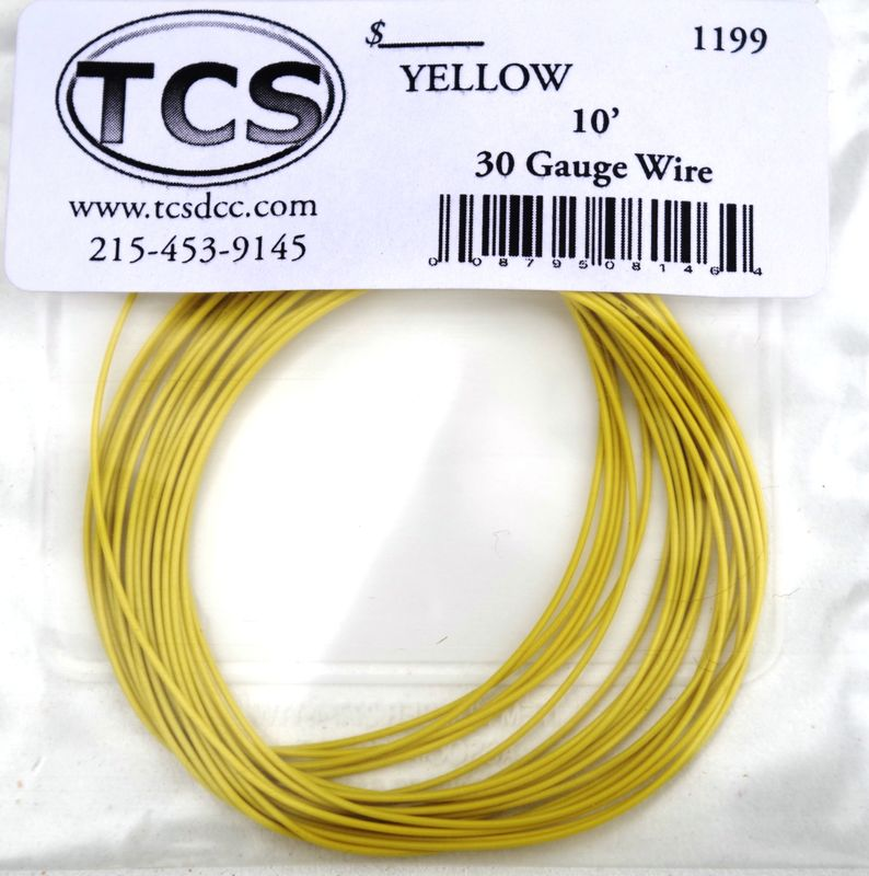 Yellow 30 awg colour wire 10ft 33m