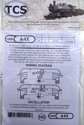 A4X 4 Function HO 'drop in' decoder for Atlas, Athearn, Kato, Bachmann