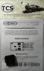 EUN651 Fully featured 2 Function, 6 pin decoder, N scale