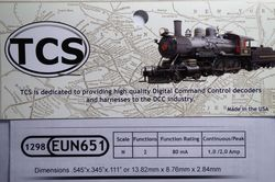 EUN651 Fully featured 2 function 6 pin decoder N scale