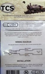 L1D4 Drop in decoder for Life-Like (Walthers) Proto N-Scale GP20