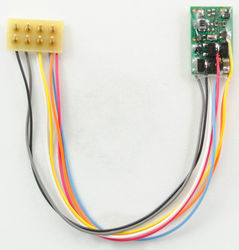 M1P-3.5' Micro 2 function Decoder with 3.5' harness & 8 Pin NMRA P