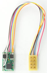 M1P-3.5-UK Micro 2 function Decoder with 3.5' harness & 8 Pin NMRA Plug