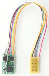 M1P-3.5-UK Micro 2 function Decoder with 3.5' harness & 8 Pin NMRA Plug