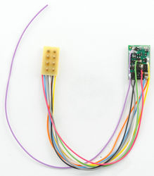 M4P-3.5-UK Micro 4 function Decoder with 3.5' harness and NMRA 8 pin plug