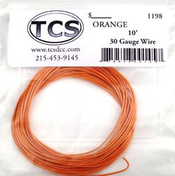 Orange 30awg colour wire 10ft (3.3m)