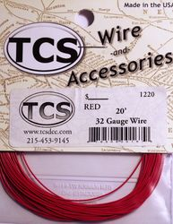 Red - 32awg colour wire 20ft (6.7m)