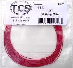 Red 32awg colour wire 10ft (3.3m)
