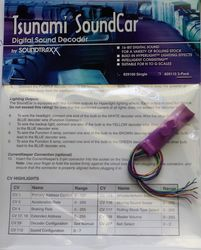 Tsunami SoundCar Digital Sound Decoder
