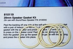 STX 810119 Gasket kit speaker 28mm Pkg of 4 2