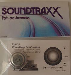 Speaker 27mm round x 14.3mm (d), 8-ohm mega bass speaker