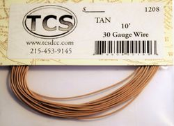Tan 30awg colour wire 10ft (3.3m)