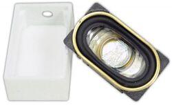 TCS:1710 UNIV-SH4-C Universal Speaker housing for 25mm x 14mm oval speaker inclu
