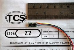 Z2 2 function decoder for N + Z scale trains